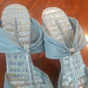Donald J. Pliner Shoes - Gray / silver Donald Pliner heel